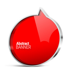 shiny gloss red banner vector image