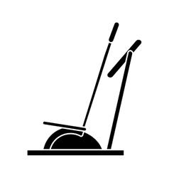 silhouette elliptical walker trainer machine gym vector image