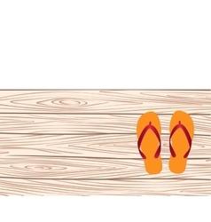 Template with flip-flops vector