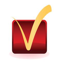 Tick button vector