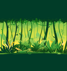 tropical rainforest nature background vector image