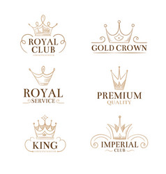 vintage princess labels and logos with vector image