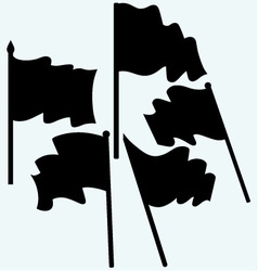 Waving flags and banners vector