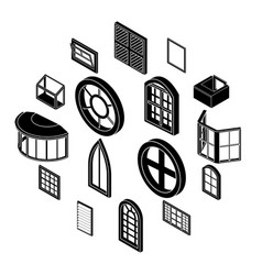 Window forms icons set simple style vector