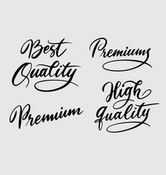 best and high quality handwriting calligraphy vector image vector image