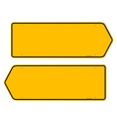 Directions Yellow Sign vector image vector image