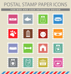 goods for pets icons vector image