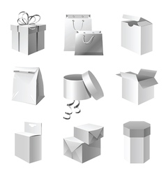 paper package icons set vector image