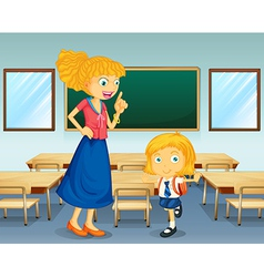 A teacher and a student vector image