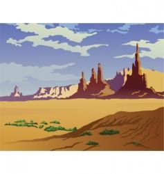 Arizona landscape vector image vector image