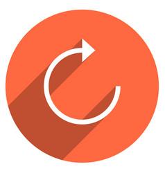 arrow sign reload icon circle button vector image vector image