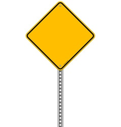 Empty Yellow Sign vector image