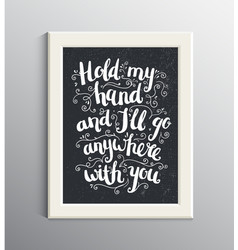 hand drawn love quote brushpen lettering vector image vector image