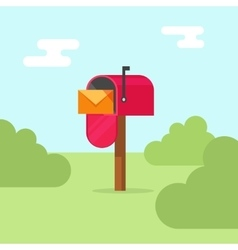 Mailbox post office box on vector image vector image