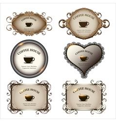 Set of retro labels vintage design for restaurant vector image