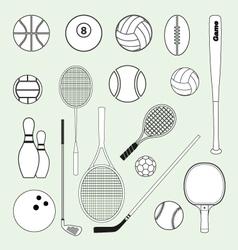 Sports balls and equipment vector