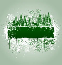 winter forrest grunge vector image vector image