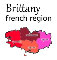 Brittany french region map vector