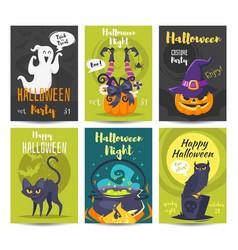 halloween poster design template vector image