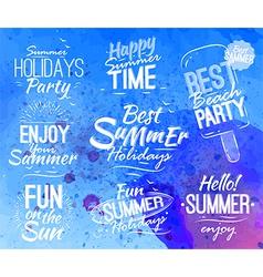 Summer set lettering vector