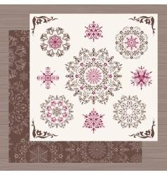Vintage snowflakes vector image