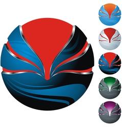 icon sphere vector image