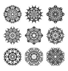 MandalaVintage pattern set vector image