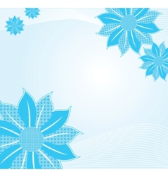 Tender background with blue abstract flower vector image vector image