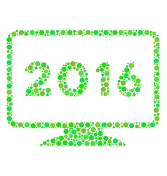 2016 display composition icon of circles vector