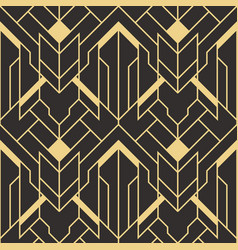 abstract art deco seamless pattern 02 vector image
