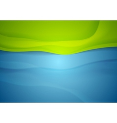 Abstract blue green wavy background vector