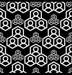 abstract geometry square seamless pattern black vector image