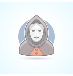 Anonym stranger maskman mysterious man icon vector