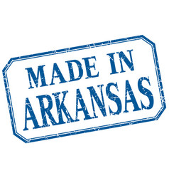 arkansas - made in blue vintage isolated label vector image