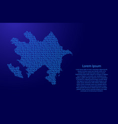 azerbaijan map abstract schematic from blue ones vector image