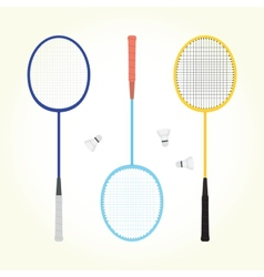 badminton set vector image