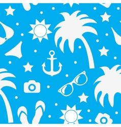 Beach seamless texture summer background season vector