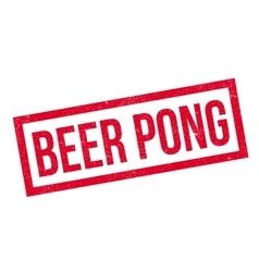 Beer Pong rubber stamp vector