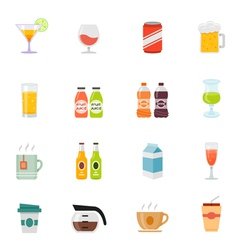 Beverage icon full color flat icon design vector
