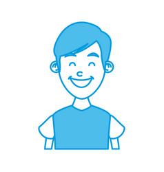 boy smiling profile vector image