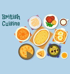 british cuisine lunch menu icon for food design vector image vector image