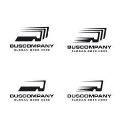 bus logo set template vector image