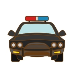 Car police icon image vector