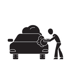 car washing black concept icon car washing vector image