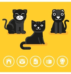 cat icon in flat style vector image
