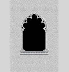 Classic frame in form of gothic decorative window vector