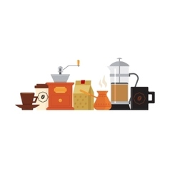 Coffee Accessories Set With Cup vector image
