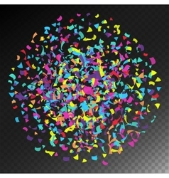 Confetti Falling Bright Explosion Isolated vector image