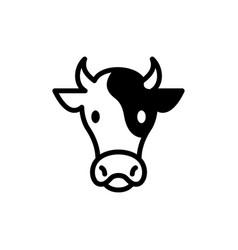 cow head logo icon vector image