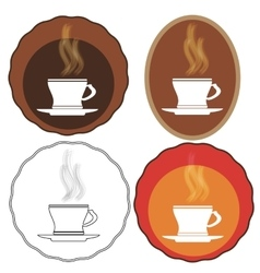 Cup of Coffee Icons vector image